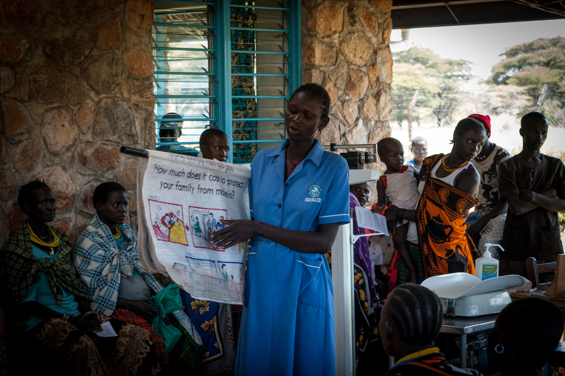 a woman teaching health education